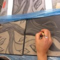 25x25 seramik duvar panosu çalışması..